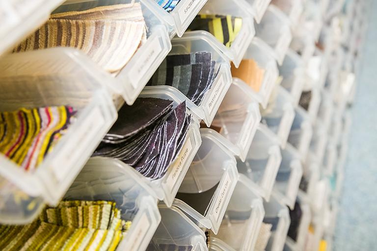 Create Fabrics Sample Room Organised